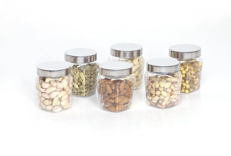 Steelo 6 Pieces PET - Squarish  - 250 ml Plastic Food Storage(Pack of 6, Clear)