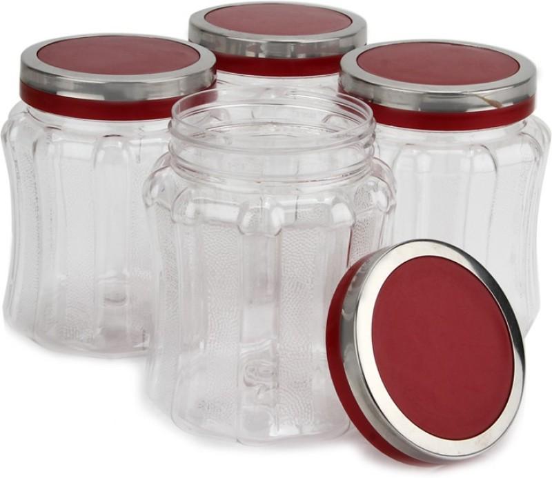 Steelo 4 Pieces PET - Skona  - 500 ml Plastic Food Storage(Pack of 4, Clear)
