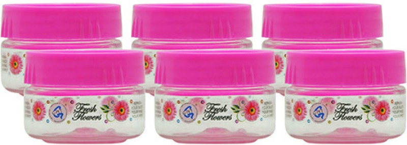 GPET Print Magic Container - Pink - Set of 6  - 50 ml Plastic Food Storage(Pack of 6, Pink)