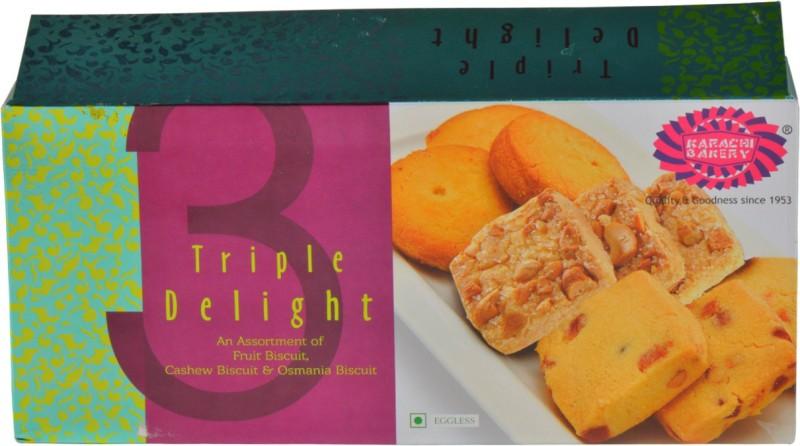 Karachi Bakery Tripple Delight-Fruit,Cashew and Osmania(600 g)