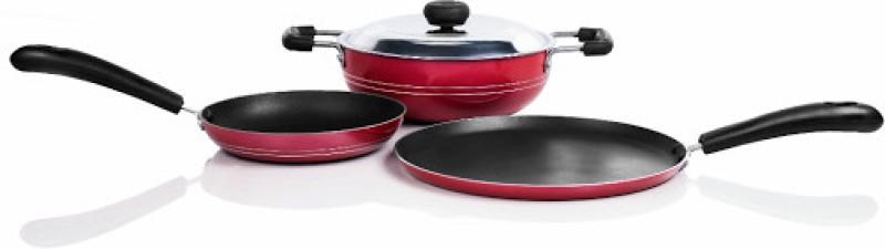 Sumeet Nonstick Superb Six Cookware Set(Aluminium, 3 - Piece)