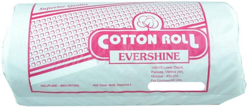 Evershine Cotton Rolls (400 Grams) - Pack of 10(10 Units)