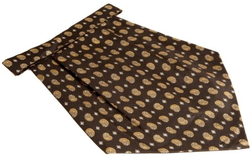 the-vatican-black-cravat-with-green-paisleys-filled-in-yellow-green-dimond-shapes-cravatpack-of-1