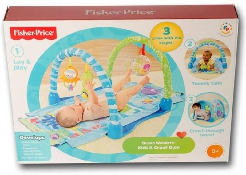 Fisher-Price Ocean Wonders Kick & Crawl Aquarium Gym(Blue)