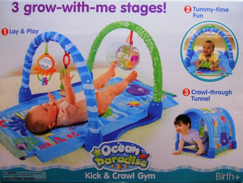 Baby Grow Ocean Paradise Kick & Crawl Gym(Blue)