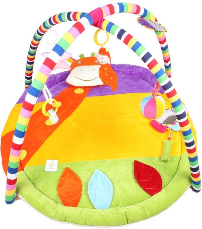 Ole Baby Plushy Giraffee Twist And Fold Musical Activity Play Gym-Newborn Playmat(Multicolor)
