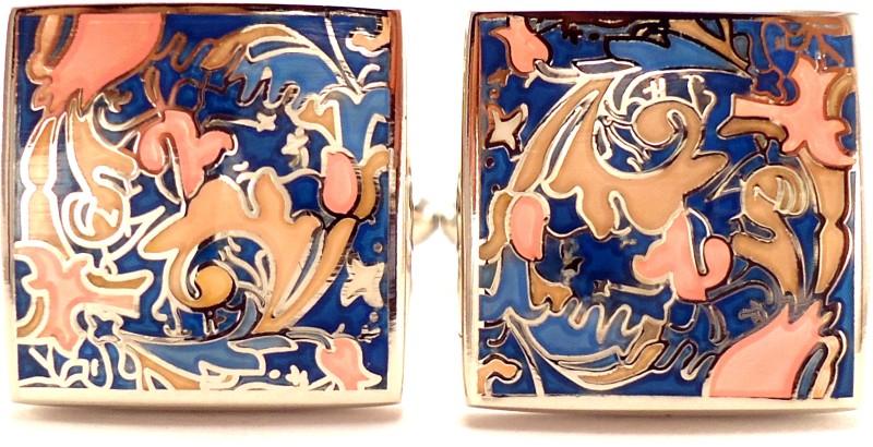 Peluche Brass, Rhodium Plated Cufflink(Multicolor)