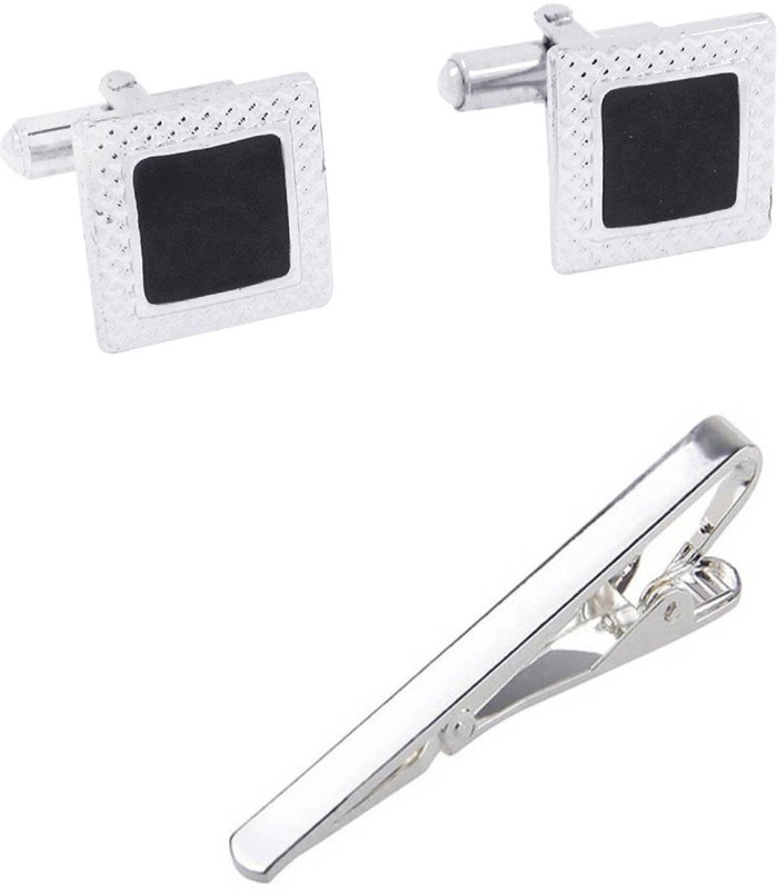 Bsquare Metal Cufflink & Tie Pin Set(Silver)
