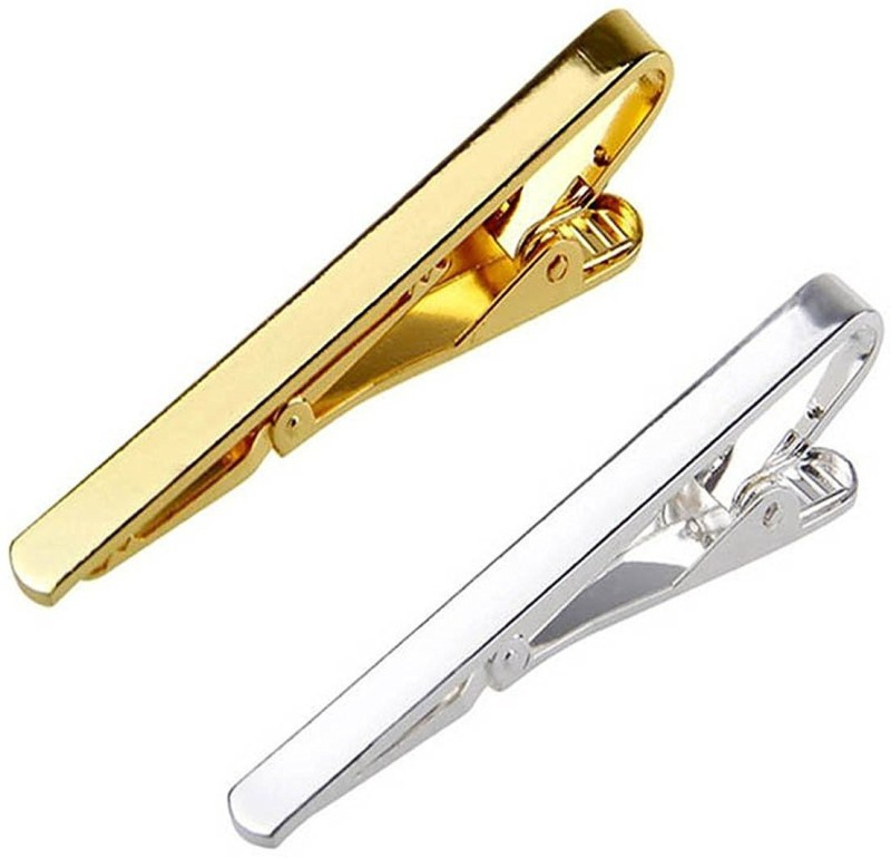Bsquare Brass Tie Pin Set(Silver, Gold)