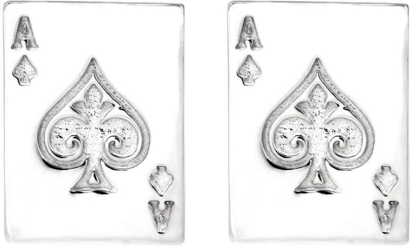 Exxotic Jewelz Brass Cufflink(Silver)