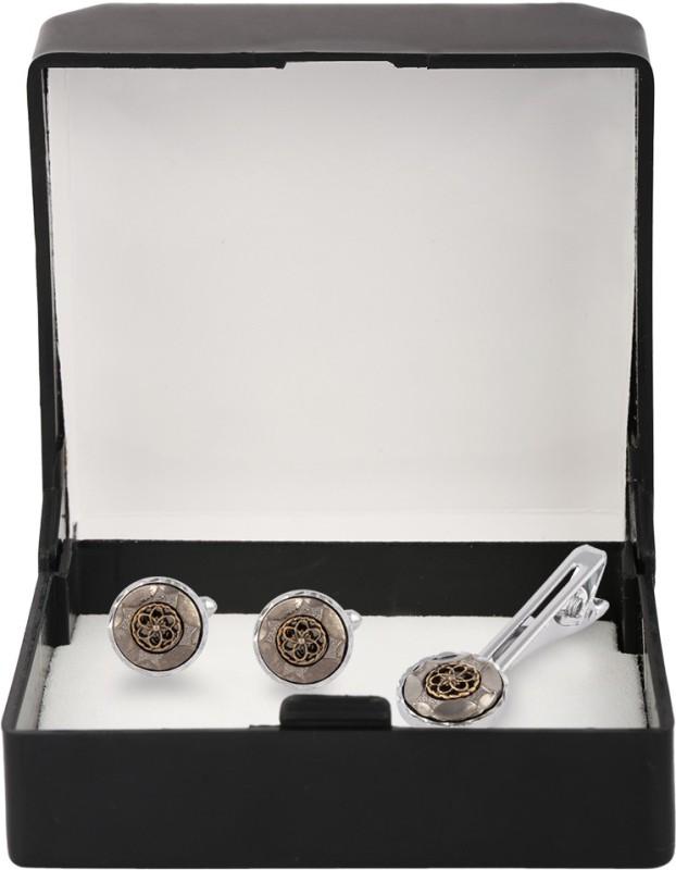 Paranoid Alloy Cufflink & Tie Pin Set(Silver)