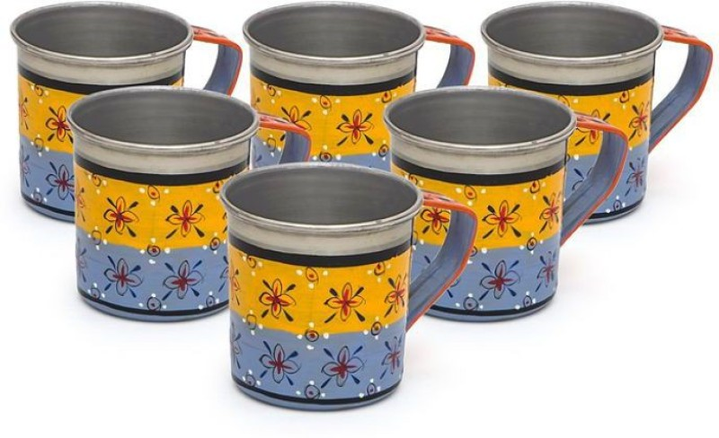 Kaushalam Cup Set Of 6 Blue Stainless Steel(Blue, Pack of 6)