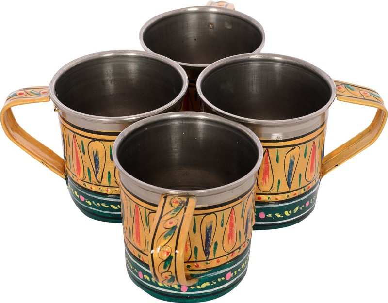 Kaushalam Cup Set Of 4 Green Stainless Steel(Green, Pack of 4)