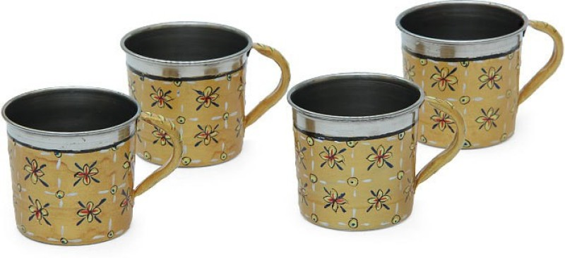 Kaushalam Cup Set Of 4 Gold Stainless Steel(Gold, Pack of 4)
