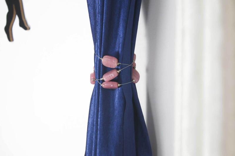 Veer Creations Pink Tieback Hook(Pack of 4)