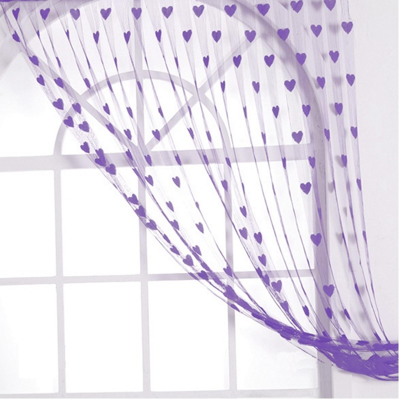GP 213 cm (7 ft) Polyester Door Curtain Single Curtain(Striped, Purple)