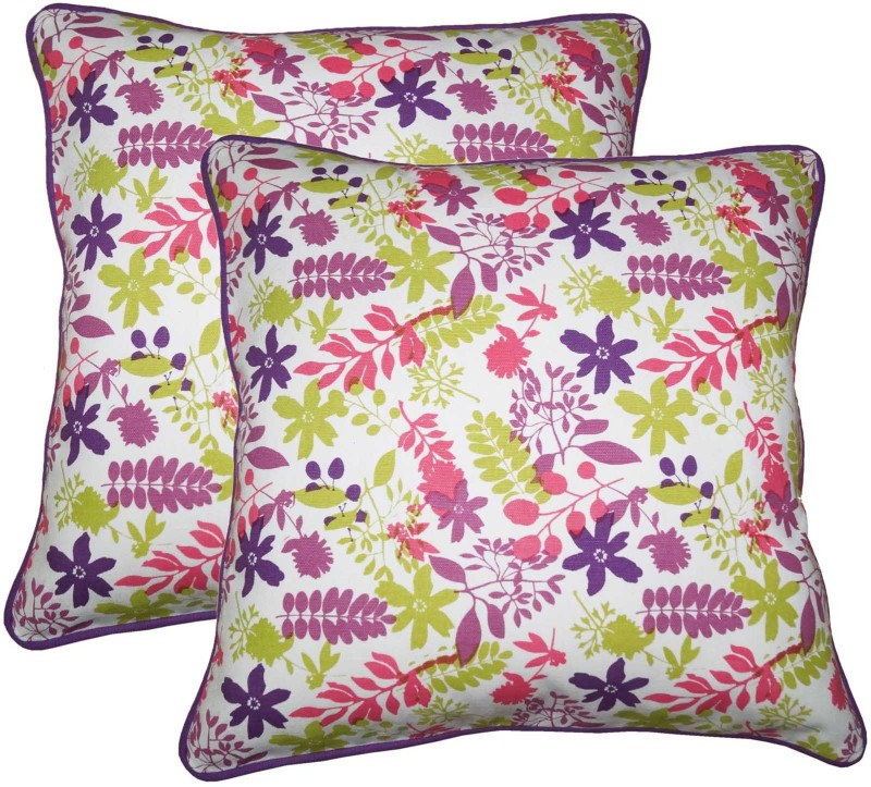 Lushomes Printed Cushions Cover(Pack of 2, 30 cm*30 cm, Multicolor)