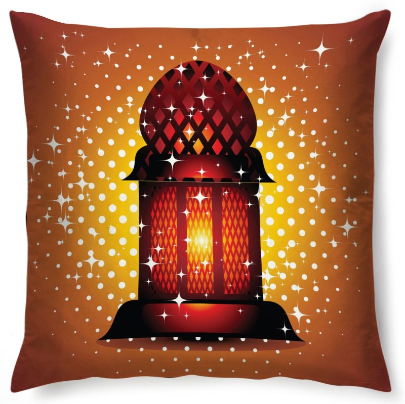 Right Abstract Cushions Cover(40 cm*40 cm, Brown, Red)