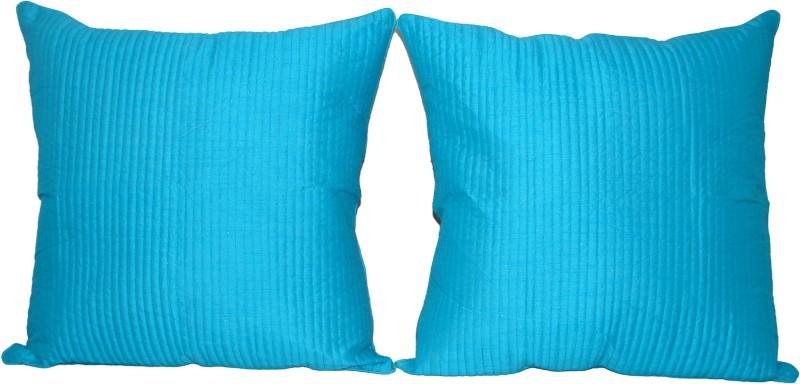 HOME SHINE Plain Cushions Cover(Pack of 2, 60 cm*60 cm, Light Blue)