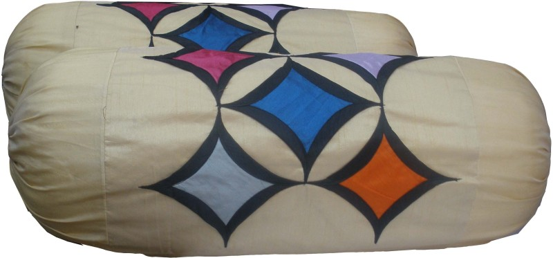 Vg store Geometric Bolsters Cover(Pack of 2, 77 cm*77 cm, Multicolor)