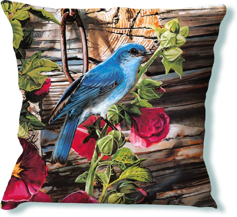 LA VERVE Animal Cushions Cover(40 cm*40 cm, Multicolor)