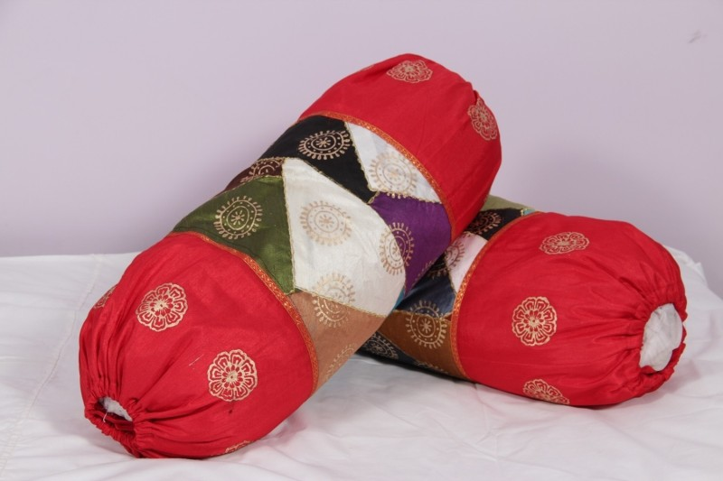 Soundarya Geometric Bolsters Cover(Pack of 2, 45 cm*90 cm, Multicolor)
