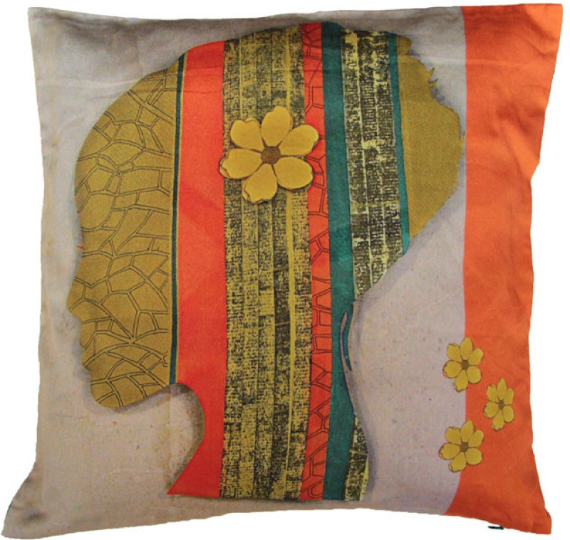 Indian Colours Abstract Cushions Cover(40 cm*40 cm, Multicolor)