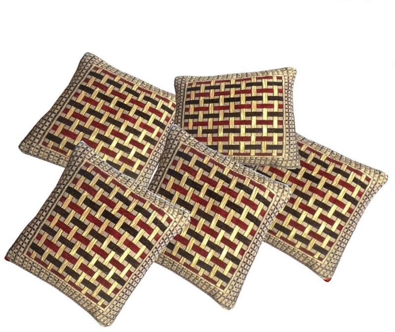 The Decor Hub Geometric Cushions Cover(Pack of 5, 40.64 cm*40.64 cm, Multicolor)