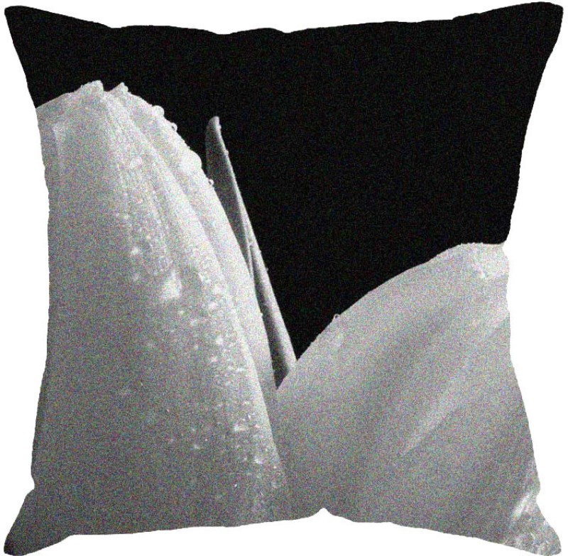 Fabulloso Printed Cushions Cover(31 cm*31 cm, Black, White)
