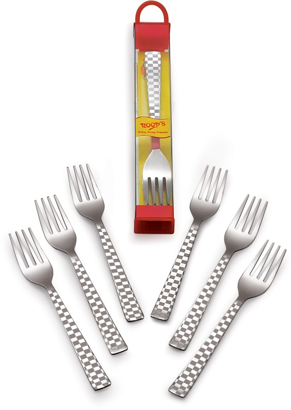 Roops Stainless Steel Cutlery Set(Pack of 6)