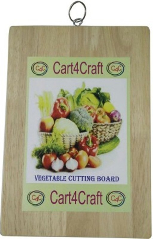 Cart4Craft Wooden Vegetable Chopping Board (Beige Color) Wood Cutting Board(Beige Pack of 1)