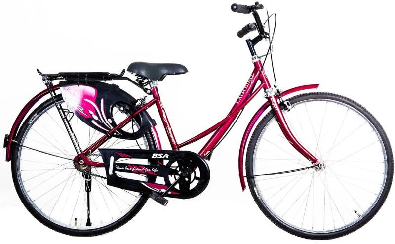 BSA DREAMZ 26 26 T Girls Cycle/Womens Cycle(Single Speed, Purple)
