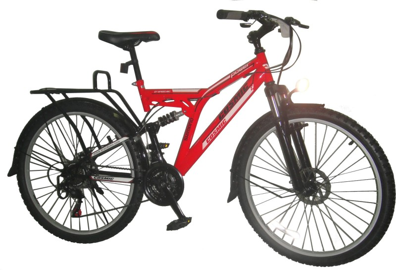 COSMIC POWER-MS 21 SPEED MTB BICYCLE RED 26 T Mountain Cycle(21 Gear, Red)