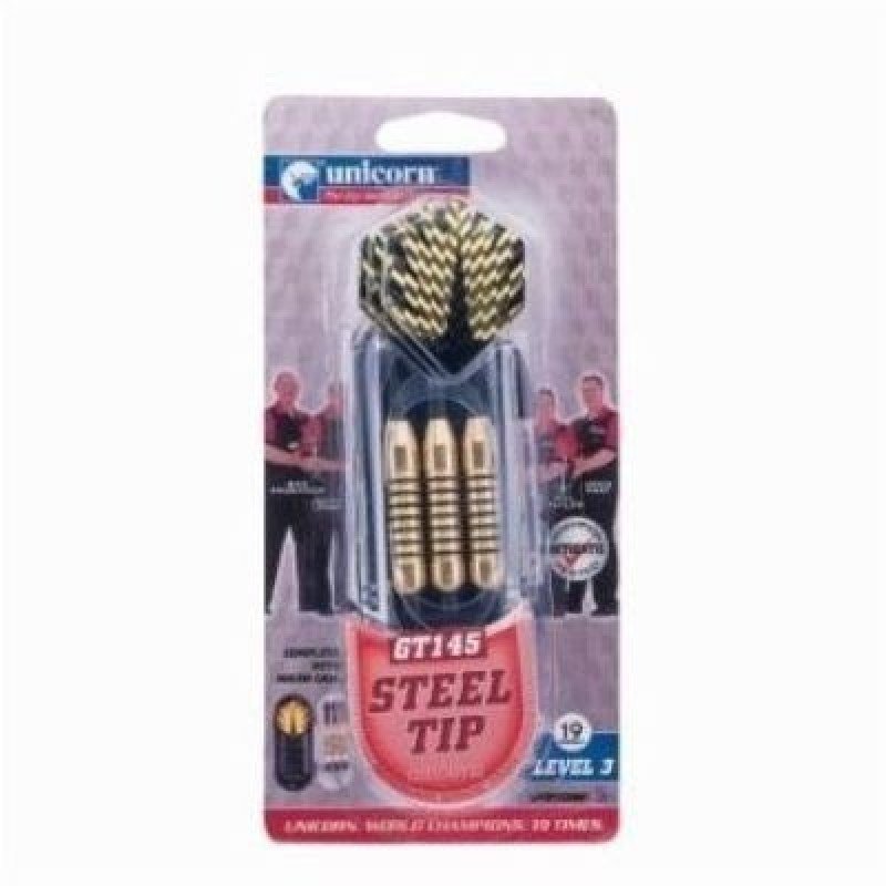 Unicorn dart set steel Tip GT 145 Steel Tip Dart(Gold, Pack of3)