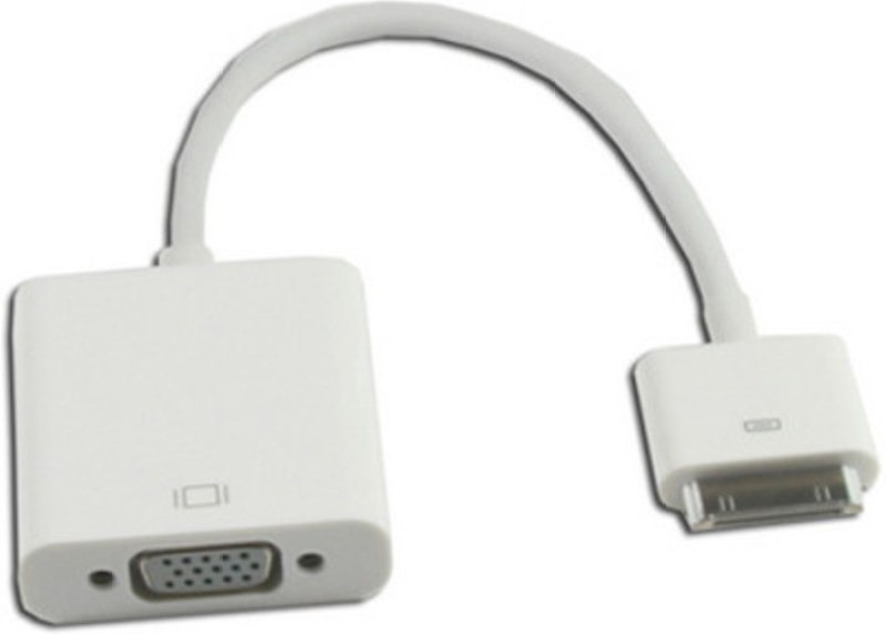 Microware iPad To VGA Female 0.254 m HDMI Cable(Compatible with Mobile, Laptop, Tablet, Mp3, Gaming Device, White, One Cable)