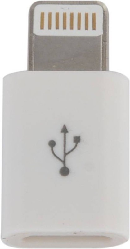 FKU Lightning 8 Pin to Micro USB Converter - Sync Charge 5 Ipad Mini 4 Apple USB Cable(White)