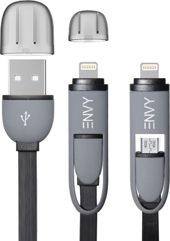 Envy 2 in 1 USB/Data Cable USB Cable(Black)