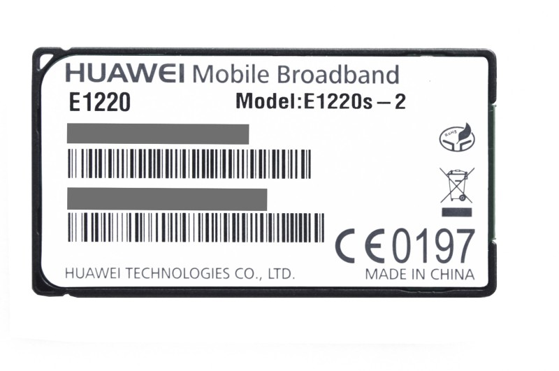 Huawei E1220S-2 3G UltraStick for Notion Ink Cain 2 in 1 Data Card(Black)