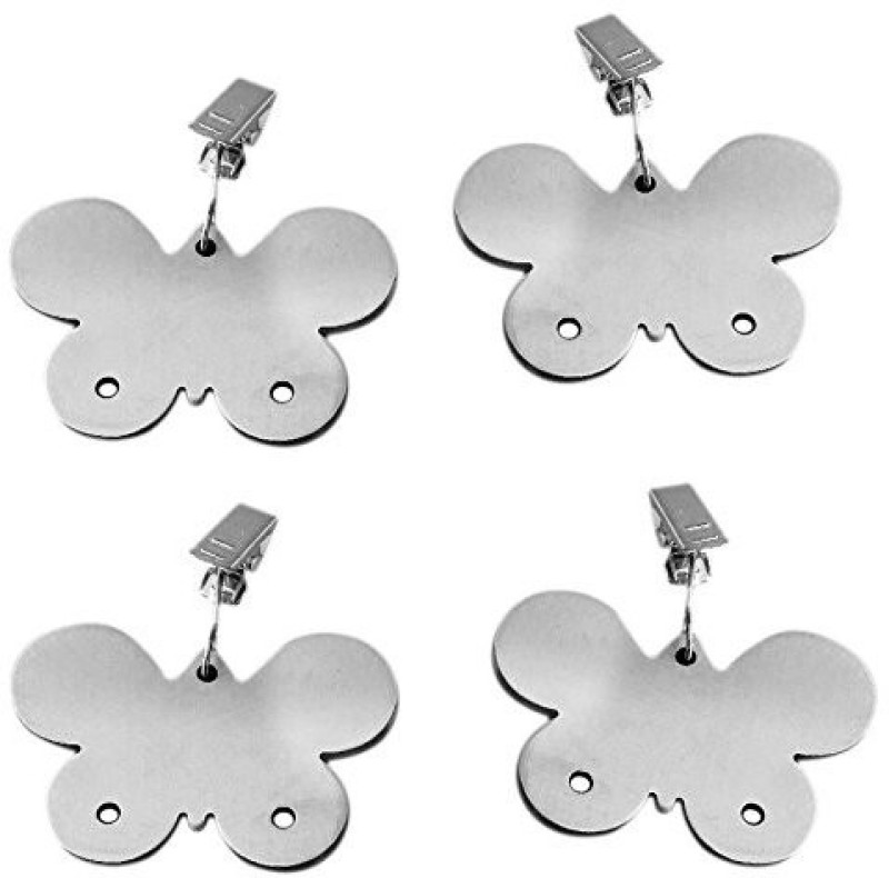 HOKIPO Butterfly Design Stainless Steel Tablecloth Weights Pendants, 4 Pieces - 210 g