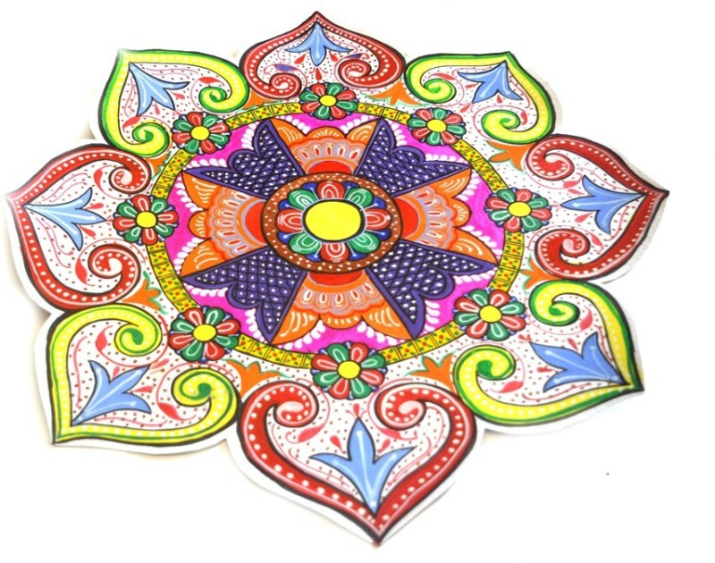 Art Godaam Multi Colour Rangoli - 1