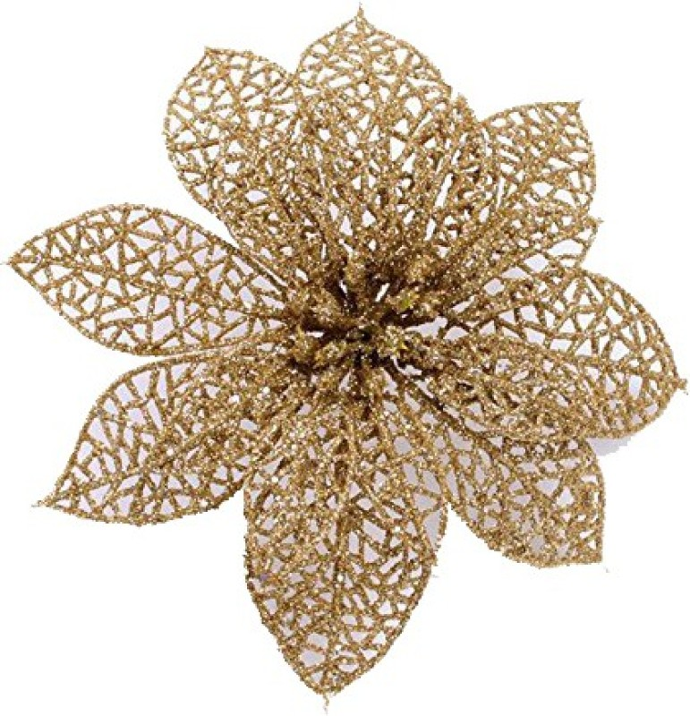 Futaba Gold Christmas Flowers Xmas Tree Decorations - 18 g