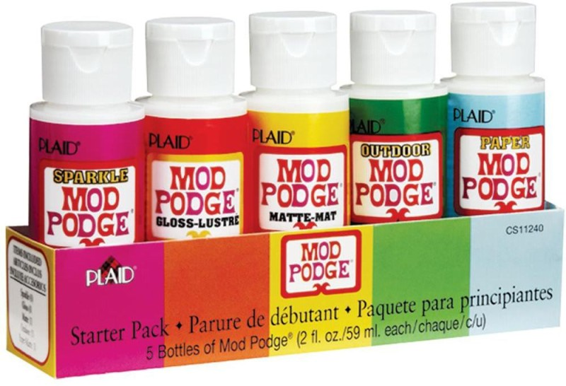 The Craft Shop Mod Podge Starter Pack Decorative Bottle(Pack of 5)