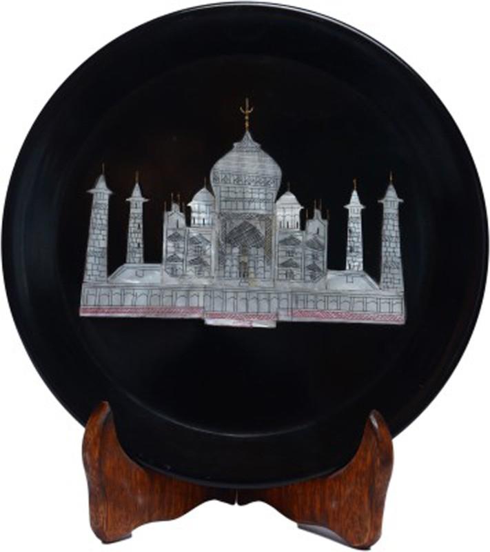 Avinash Handicrafts Stone Plate With Taj Inlay 6
