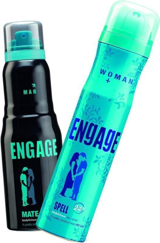 Engage Spell-Mate Deodorant Spray  -  For Men & Women(150 ml, Pack of 2) image