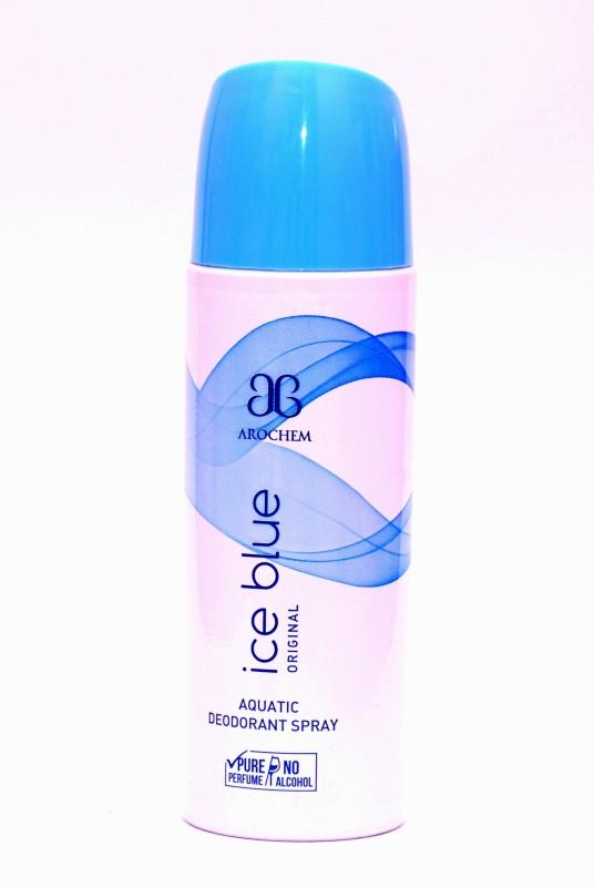 Arochem (Alcohol free) Ice Blue Deodorant Spray  -  For Men & Women(200 ml)
