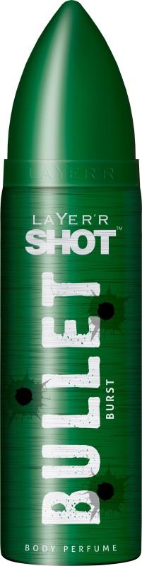 Layerr Shot Bullet Burst Deodorant Spray - For Men(120 ml)