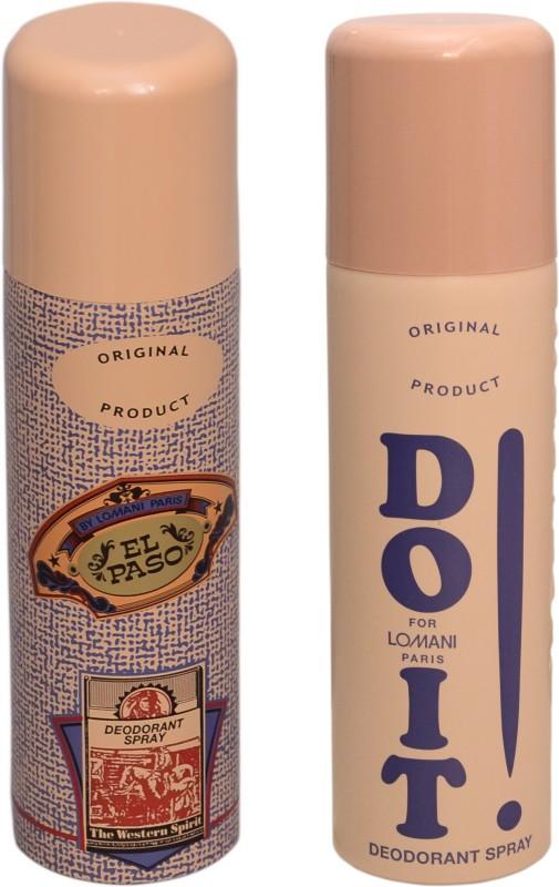 EL PASO DO IT Lomani Deodorant Spray  -  For Men(400 ml, Pack of 2) image