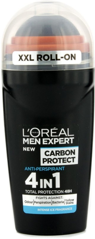 LOreal Paris Expert Carbon Protect 4 in 1 Deodorant Roll-on - For Men(50 ml)