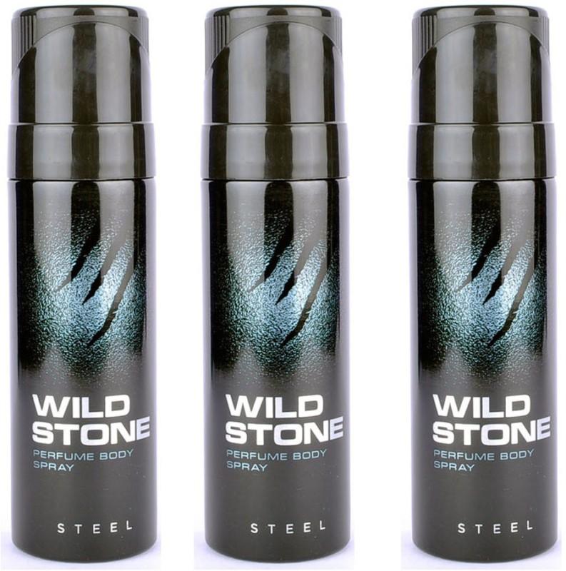 Wild Stone Steel Body Spray  -  For Men(360 ml, Pack of 3) image