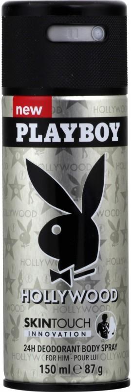 Playboy Hollywood Deodorant Body Spray - For Men(150 ml)